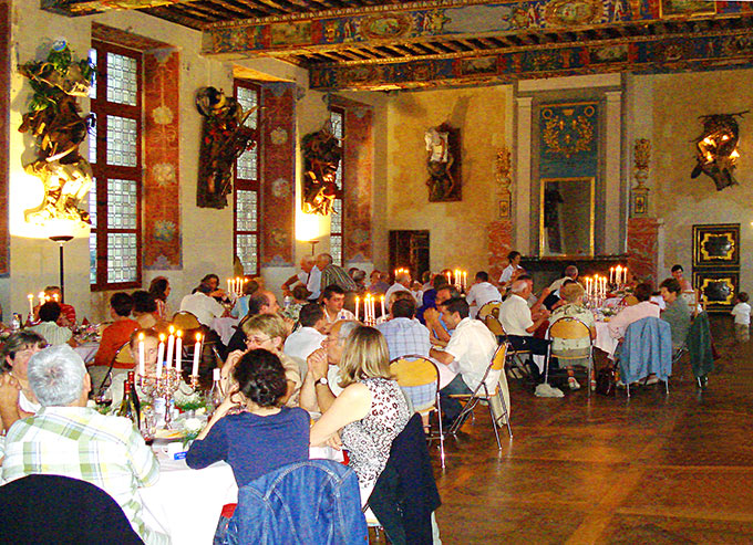 The dîner in the castle